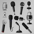 Microphone vector sound music audio voice mic recorder karaoke studio radio record phonetic vintage old and modern