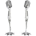 Microphone vintage silver isolated on white Royalty Free Stock Images