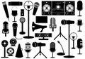 Microphones and gadgets Royalty Free Stock Photos