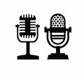 Microphones icon this is file of eps format Royalty Free Stock Image