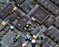 Microprocessors printed circuit board an array of on a Royalty Free Stock Image