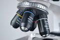 Microscope closeup of for science Royalty Free Stock Image