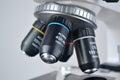 Microscope closeup Royalty Free Stock Photo