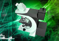 Microscope digital illustration of in white background Stock Photography