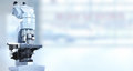 Microscope. Royalty Free Stock Photo