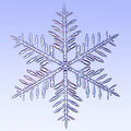 Microscopic snowflake Royalty Free Stock Images