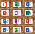 Microsoft office word, excel, powerpoint Royalty Free Stock Photo