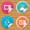 Microwave oven icon. Cooking food serving. Royalty Free Stock Photo