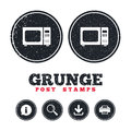 Microwave oven sign icon. Kitchen electric stove.