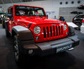 Mid-size SUV Jeep Wrangler Unlimited Rubicon, 2016. Royalty Free Stock Photo