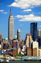 The Mid-town Manhattan Skyline Royalty Free Stock Photo