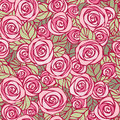 Midday roses seamless floral pattern eps vector Royalty Free Stock Photo
