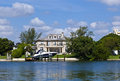 Midday view at ocean drive in miami usa jul luxury houses the canal on july south usa pine tree is considered the premier Royalty Free Stock Images