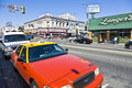Midday view to the crossing los angeles usa july at langers square with old historic buildings on july in los angeles usa one of Royalty Free Stock Photo