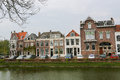 Middelburg the netherlands april houses by a gracht in the center of capital of zeeland province the netherlands Stock Photography