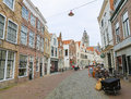 Middelburg the netherlands april street in the center of capital of zeeland province the netherlands Stock Photography