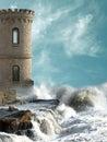 Middeleeuwse toren Stock Foto's