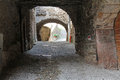 Middle age village canale di tenno ancient houses in the trentino Royalty Free Stock Photography