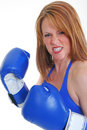 Middle aged boxer Royalty Free Stock Photography