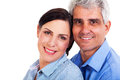 Middle aged couple closeup portrait of lovely Stock Images