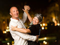 Middle-aged couple dancing Royalty Free Stock Photo