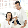 Middle aged couple in love portrait of a Royalty Free Stock Photo