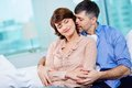 Middle aged couple portrait of tender enjoying being together Royalty Free Stock Photo