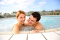 Middle-aged couple in spa center Stock Image
