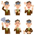 Middle-aged and older businessman sickness 6 symptoms
