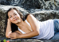 Middle - aged  Thai attractive woman. Royalty Free Stock Photo