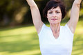 Middle aged woman fitness Royalty Free Stock Photo