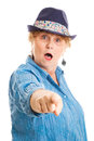 Middle Aged Woman - Shocked Accusation Royalty Free Stock Photos