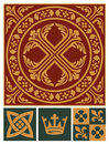 Middle ages ornament set Royalty Free Stock Photography