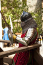 Middle ages period costume at knight tournament
