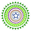 Middle blue star design can be use as print on t shirt or apparel or clothing Stock Image