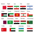 Middle east flag set of states.