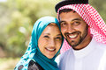Middle eastern couple close up portrait of beautiful Stock Images
