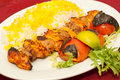 Middle eastern mixed grill meal Royalty Free Stock Image