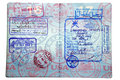 Middle Eastern Visa's and Passport Stamps Stock Images