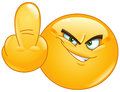 Middle finger emoticon Royalty Free Stock Photo