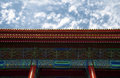 Middle kingdom colorful chinese building shot against sky using rule of thirds Stock Photo
