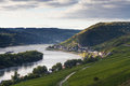 Middle Rhine Valley near Lorch Royalty Free Stock Photo