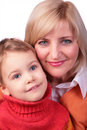 Middleaged woman with kid Royalty Free Stock Photo