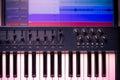 Midi keyboard with daw 3 Royalty Free Stock Photo