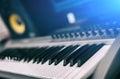Midi keyboard. Royalty Free Stock Photo