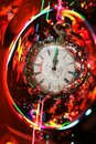 Almost midnight: bright festive abstract Royalty Free Stock Photography