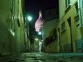 Sacre coeur Paris street night Royalty Free Stock Photo