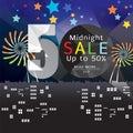 Midnight Sale Banner.