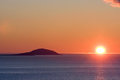 Midnight sun in northern norway Stock Photo
