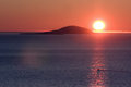 Midnight sun in northern norway Stock Photography
